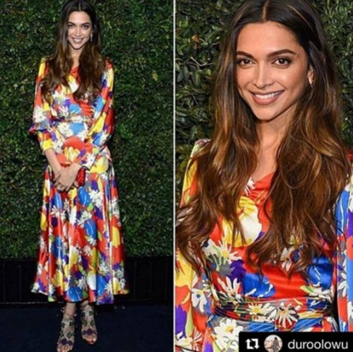 Yay or Nay? Deepika Padukone in this printed evening dress. - SeenIt