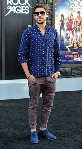 looking for Zac Efron's denim blue oxford shoes, where can i find them ? - SeenIt