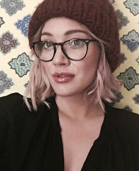Looking for these black eyewear that Hilary Duff is wearing - SeenIt