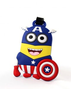 Looking for this quirky Minion Captain America cartoon travel tag - SeenIt