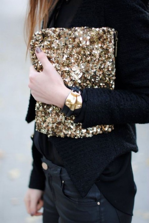 Looking for this golden sequin clutch..Have you seen it? - SeenIt
