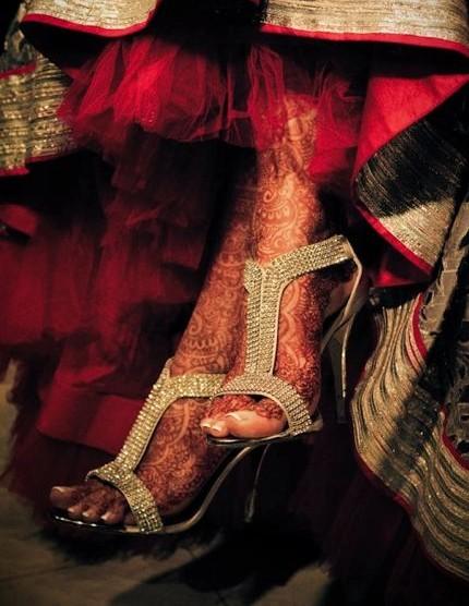 Looking for a similar golden embellished heels! - SeenIt