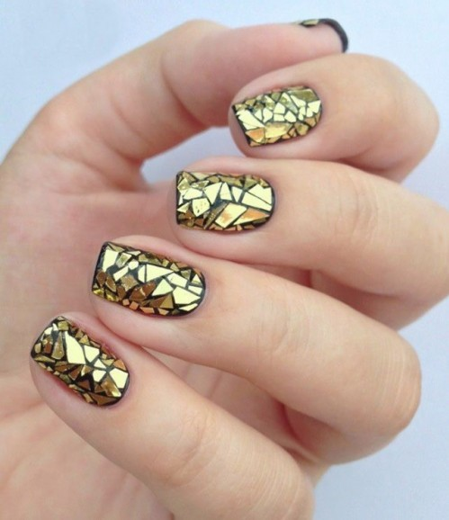 Yay or Nay? Need your opinion on this golden and black nail art. - SeenIt