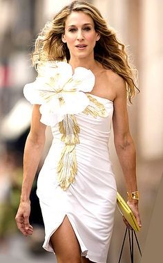 Yay or Nay? Sarah Jessica Parker in this white floral dress - SeenIt