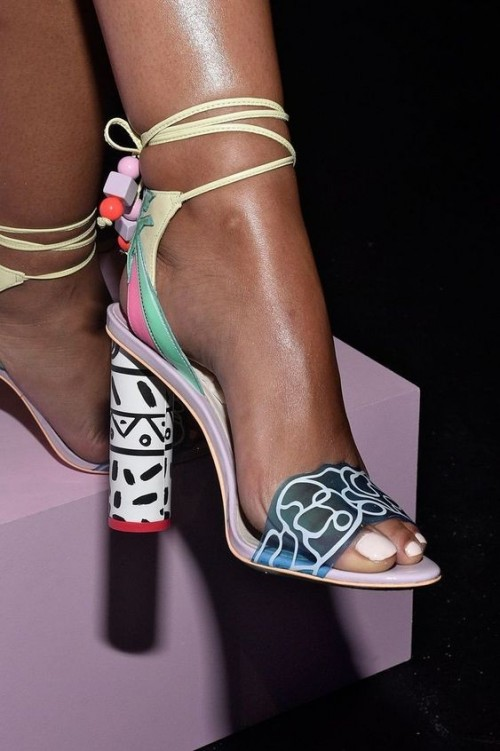 Yay or Nay? Give me your view on this transparent printed strappy block heeled sandals. - SeenIt