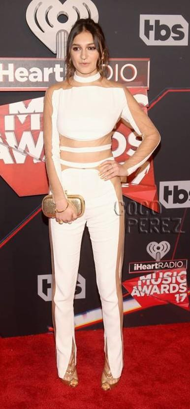 Yay or Nay? Daya wearing a cut out white jumpsuit at the iHeart Radio music awards - SeenIt