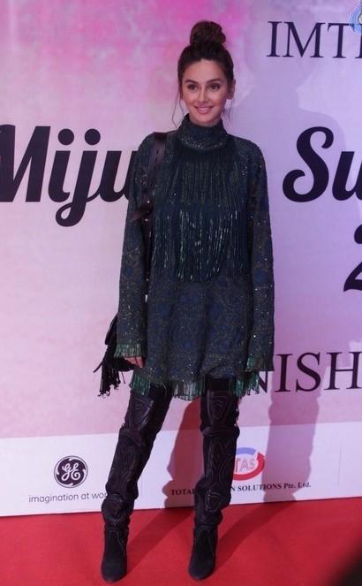 Yay or Nay? Shibani Dandekar spotted at  the Mijwan summer fashion show by Manish Malhotra held in Mumbai last night - SeenIt