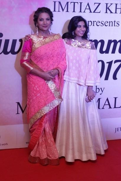 Yay or Nay? Shabana Azmi looked graceful in a pink saree at the Mijwan summer fashion show by Manish Malhotra - SeenIt