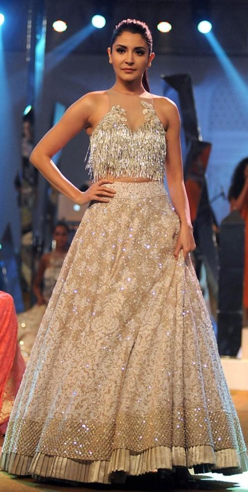 Yay or Nay? Anushka Sharma  walked the ramp for Manish Malhotra at his own Mijwan summer fashion show held for charity - SeenIt