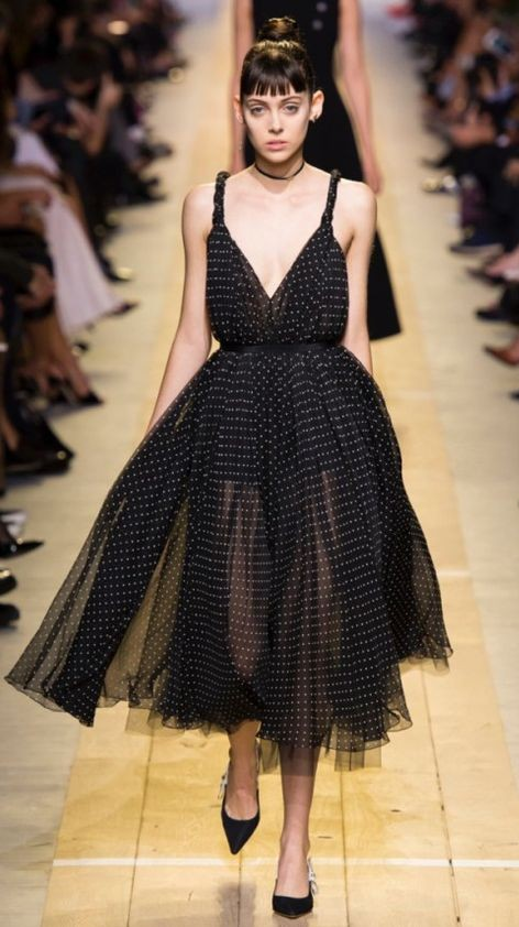 Yay or Nay? Black polka dot tulle midi dress. - SeenIt