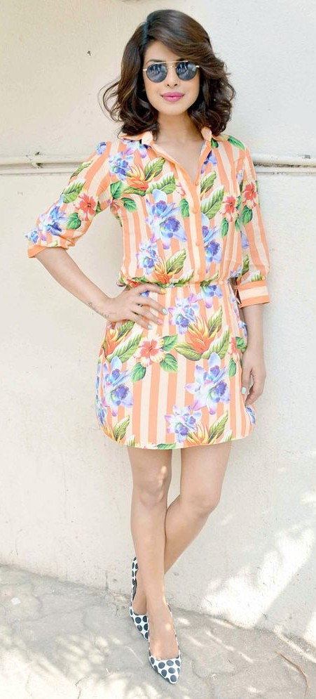 Yay or Nay? Priyanka Chopra has upped her fashion game this summer with this white orange floral dress - SeenIt