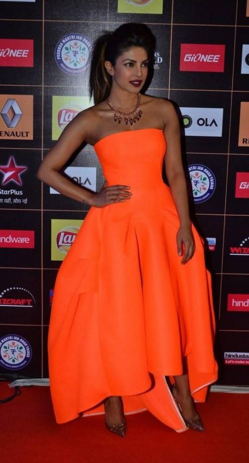 Yay or Nay? Priyanka Chopra is giving us summer trend in this off-shoulder neon dress - SeenIt
