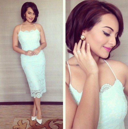 Yay or Nay? Sonakshi Sinha's summer style is a trendsetter with this pastel blue lace dress - SeenIt