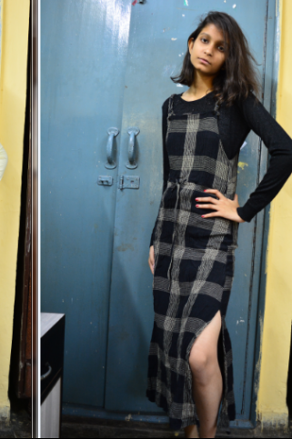Yay or Nay ? this plaid dungaree slit dress - SeenIt