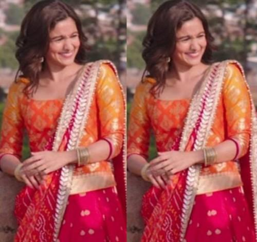 Looking For A Similar Orange And Magenta Lehenga That Alia Bhatt Wore In Her Movie Badrinath