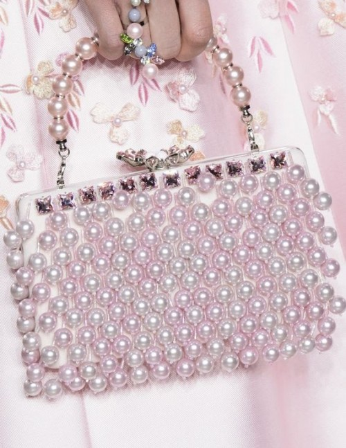 Yay or Nay? Pink pearl embedded clutch bag. Your view on this? - SeenIt