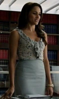 rachel's sky blue high waist pencil skirt is what i am looking for - SeenIt