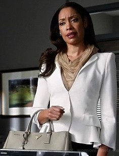 Looking for something similar to Jessica's white short formal coat. - SeenIt