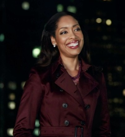 help me find a similar wine colored trench coat like Jessica wore. - SeenIt