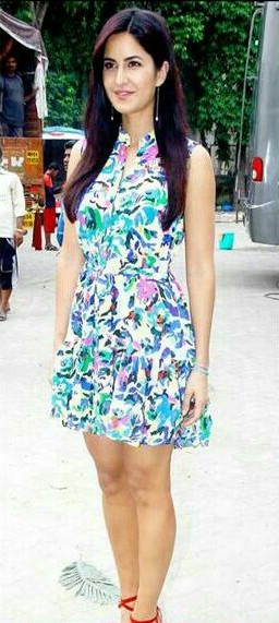 looking for a similar floral print dress as Katrina Kaif's - SeenIt