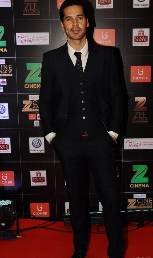 Yay or Nay? Dino Morea wearing a black three piece suit at the Zee Cine awards 2017 - SeenIt