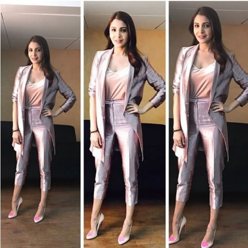 Yay or Nay? Anushka Sharma in this silver pantsuit - SeenIt
