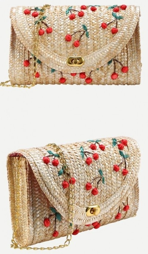 Looking for this jute cherry embroidered sling bag. Help me find it. - SeenIt