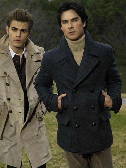 looking for a similar double breasted coat like damon wore - SeenIt