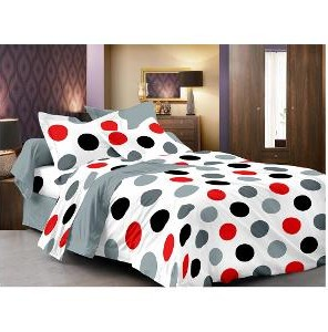 Looking for something similar white bedsheet with red and black polkadots - SeenIt