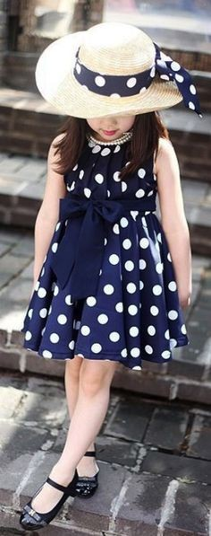 Yay or Nay? This blue polka dots dress that this kid is wearing - SeenIt