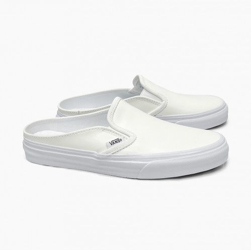 These plain white mules are what I am looking for. - SeenIt