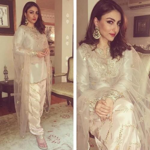 Help me find this white designer salwar kameez that Soha Ali Khan is wearing - SeenIt