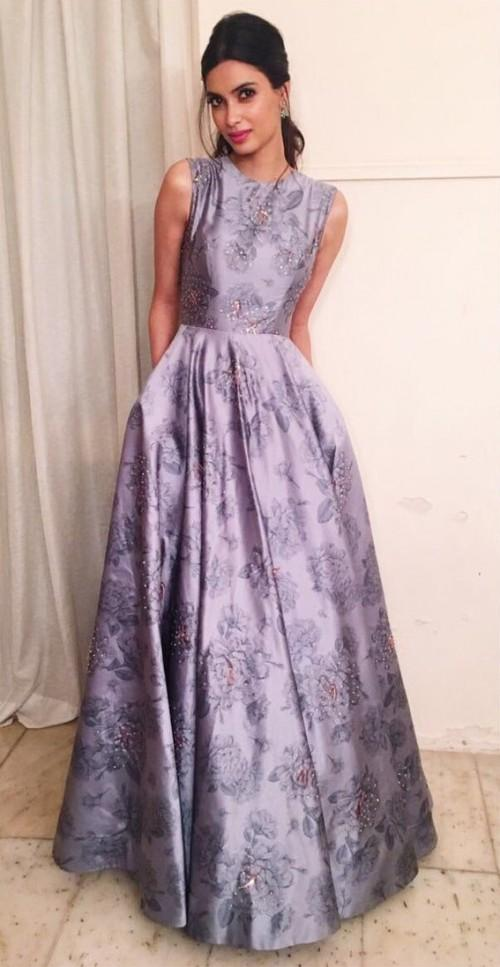 Yay or Nay? Diana Penty wearing a purple floral print gown by Nishka Lulla at the Nykaa Femina Beauty Awards - SeenIt