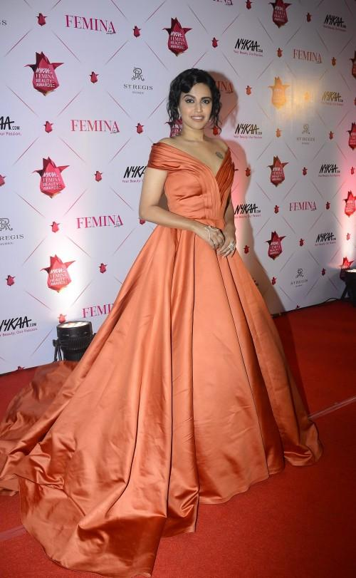Yay or Nay? Swara Bhaskar wearing a Manish Malhotra ball gown at the Nykaa Femina Beauty Awards - SeenIt