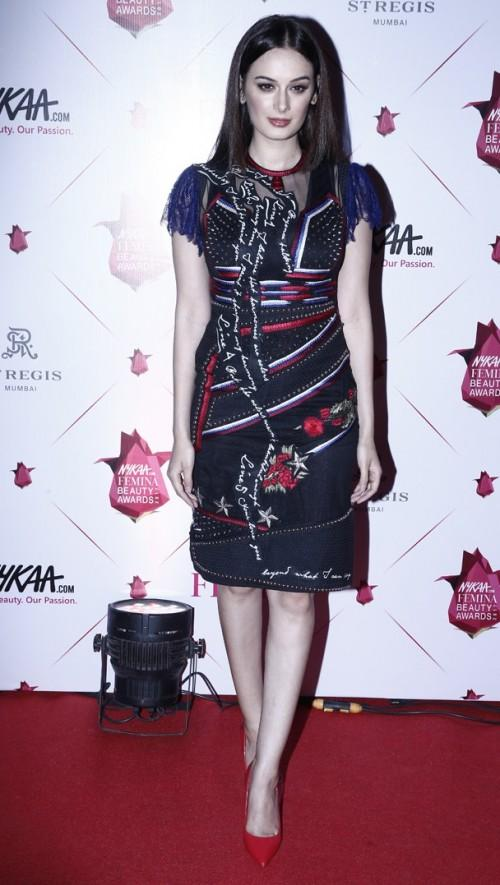 Yay or Nay? Evelyn Sharma wearing a Falguni & Shane Peacock shift dress at the Nykaa Femina Beauty Awards - SeenIt
