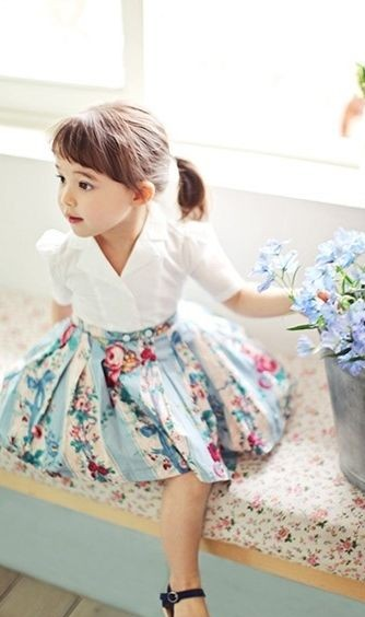 Need this mint green floral print skirt. - SeenIt