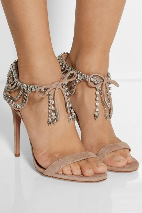 Yay or Nay? Need your view on these nude embellished ankle strap stiletto heels. - SeenIt