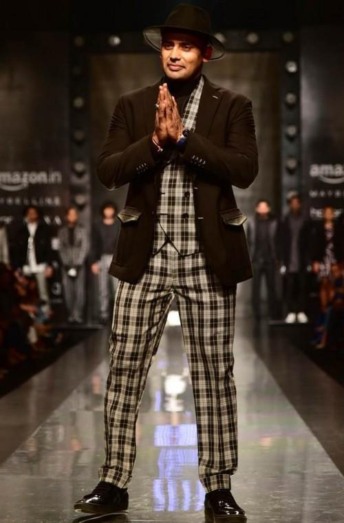 Yay or Nay? Sangram Singh walked the ramp for Dhruv Vaish during the Amazon fashion week Autumn Winter'17 - SeenIt
