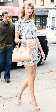 Looking for similar white floral dress that Taylor Swift is wearing - SeenIt