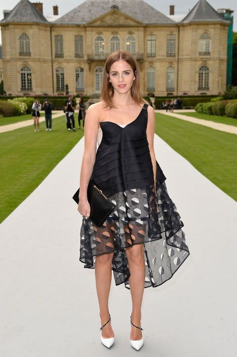 Yay or Nay? Emma Watson in this high-low one-shoulder dress - SeenIt