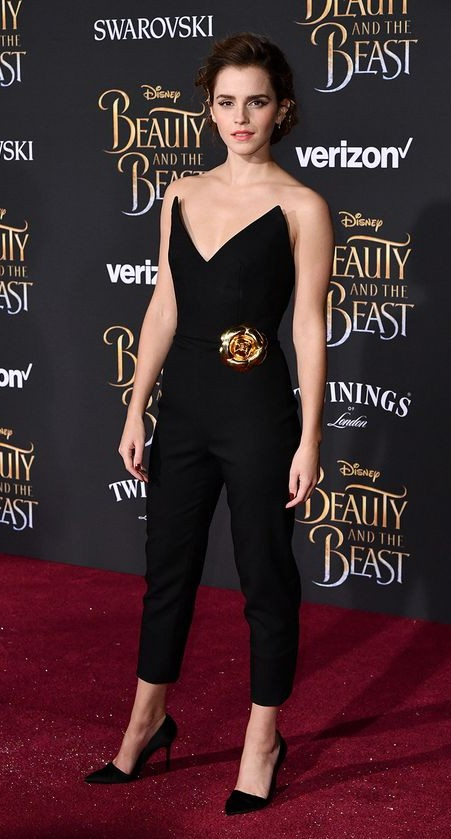 Yay or Nay? Emma Watson in this black jumpsuit - SeenIt