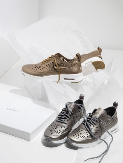 I only want these golden metallic sneakers with cutwork. Love Love Love them! - SeenIt