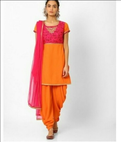 Want this orange and pink salwar kameez - SeenIt