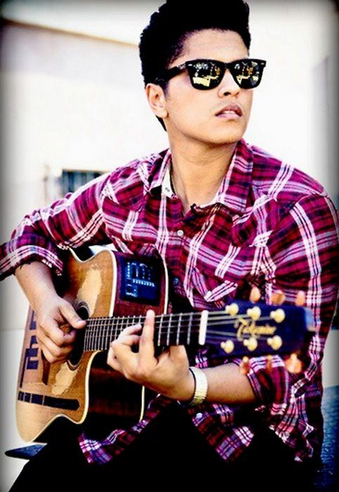 Where can I find a similar pink and white tartan checked shirt like the one Bruno Mars is wearing? - SeenIt