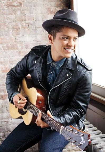 Need this black leather biker jacket that Bruno Mars is wearing. - SeenIt