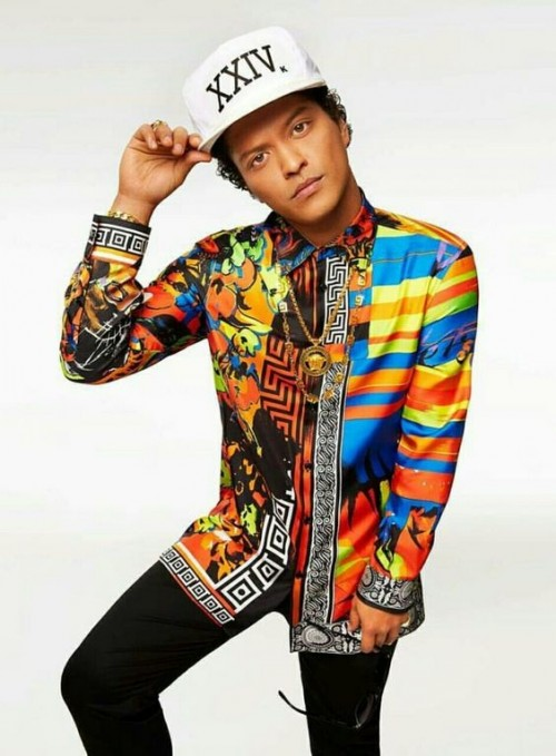 Yay or Nay? Need your opinion on the colourful printed shirt that Bruno Mars is wearing. - SeenIt