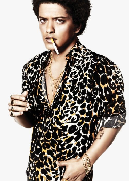 Yay or Nay? Bruno Mars in a leopard print shirt. - SeenIt