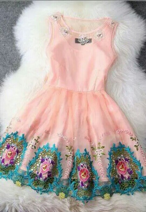 Want this baby pink skater dress - SeenIt