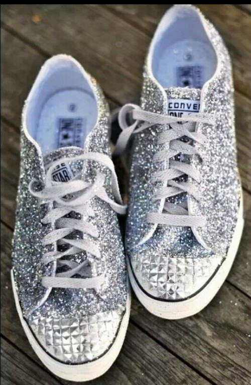 Yay / Nay ? these spiked shimmer sneakers - SeenIt
