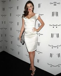 Looking fro this white bodycon dress that Miranda Kerr is wearing - SeenIt